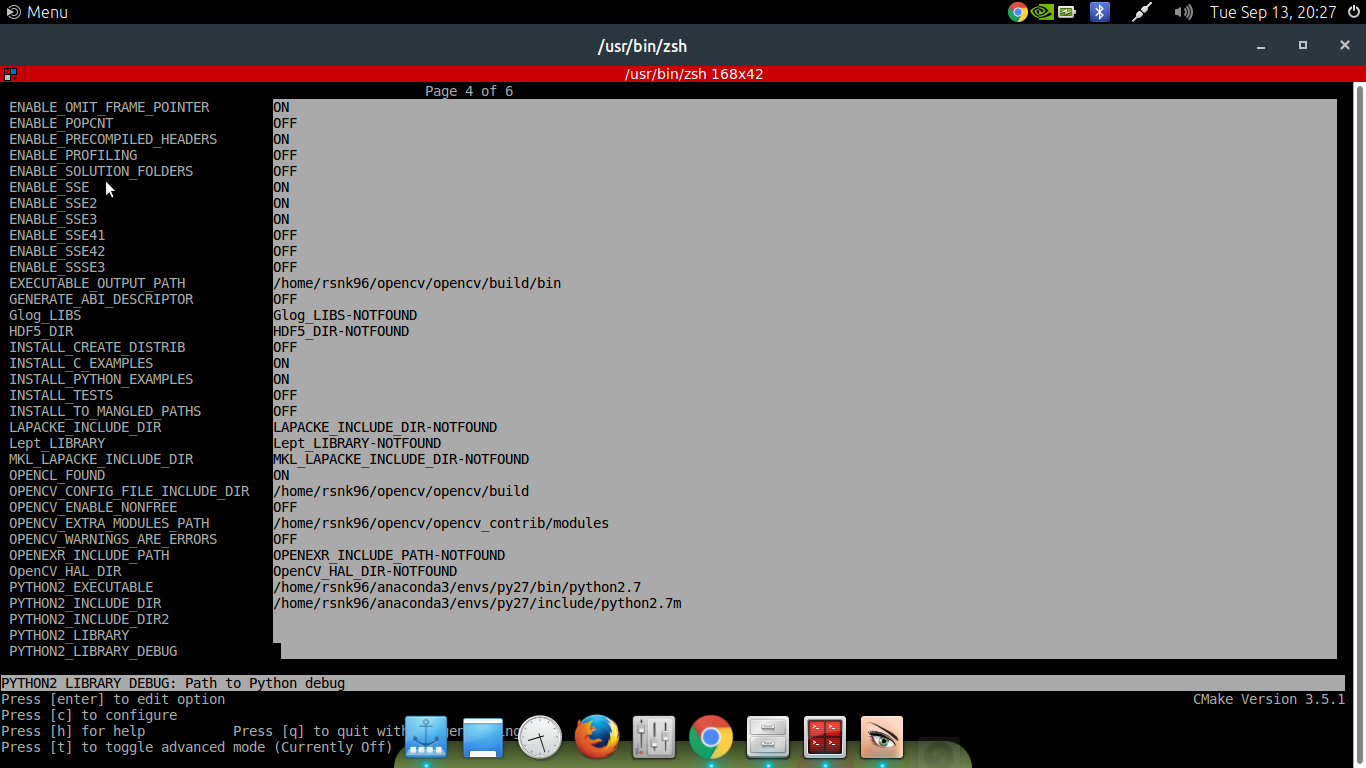 Homepage of rsnk|OpenCV Installation on Anaconda Python in Linux